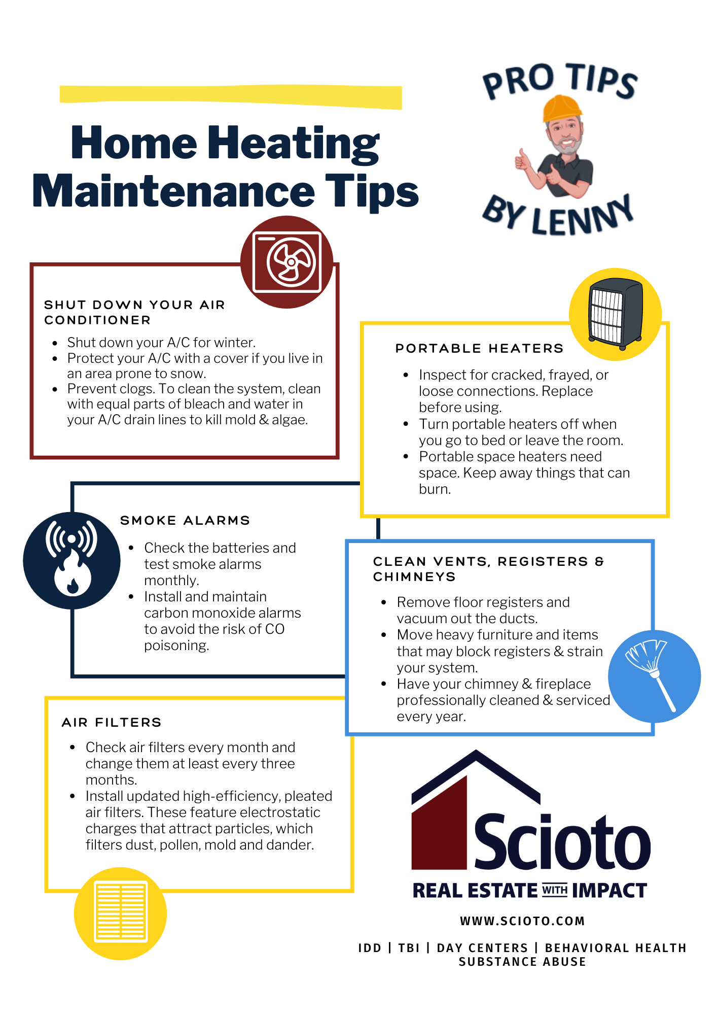Home Heating Tips Infographics